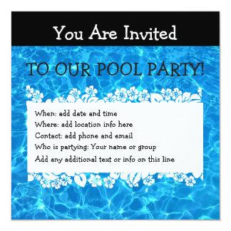 Tarjeta La fiesta en la piscina del verano invita