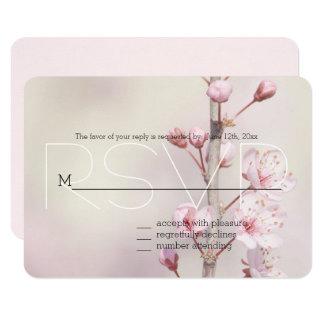 Tarjeta La flor de cerezo florece RSVP