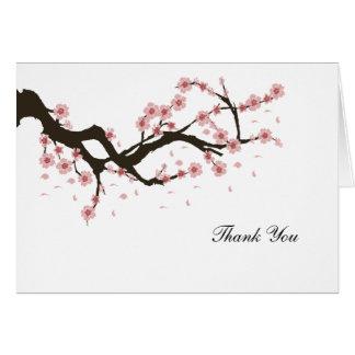 Tarjeta La flor de cerezo le agradece