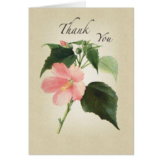 Tarjeta La flor del hibisco religiosa le agradece