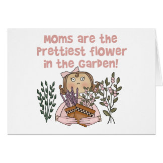 Tarjeta La flor más bonita de la mamá en el jardín