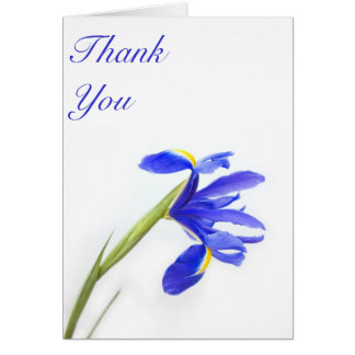 Tarjeta La flor púrpura del iris le agradece cardar
