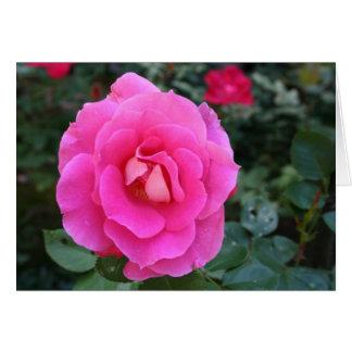 Tarjeta La flor rosada le agradece cardar