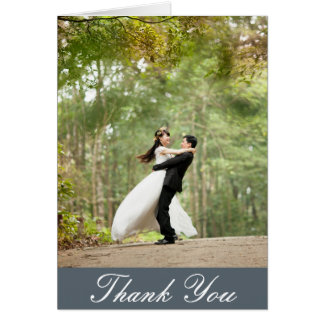 Tarjeta La foto de encargo vertical del boda le agradece