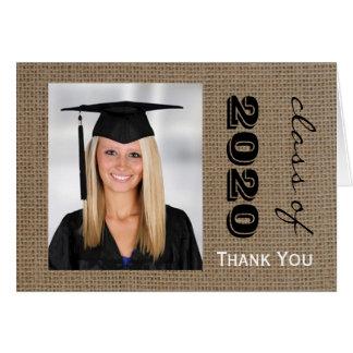 Tarjeta La foto de la graduación de la arpillera le