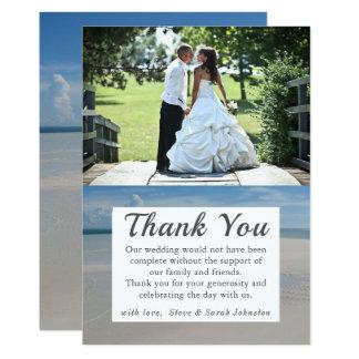 Tarjeta La foto del boda del destino de la playa le