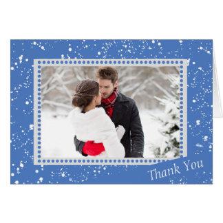 Tarjeta La foto del boda del muñeco de nieve del invierno
