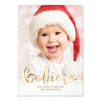 Tarjeta La foto el | del navidad cree falso efecto de la