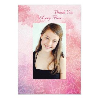 Tarjeta La foto floral de la confirmación le agradece
