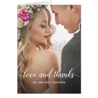 Tarjeta La foto personalizada del retrato de boda le