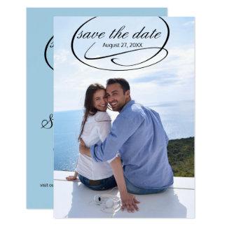 Tarjeta La foto vertical simple Swashes - 3x5 ahorran la