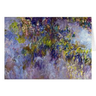 Tarjeta La glicinia (dejada) por Claudet Monet, vintage