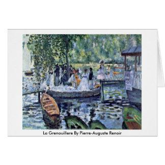Tarjeta La Grenouillere de Pierre-Auguste Renoir