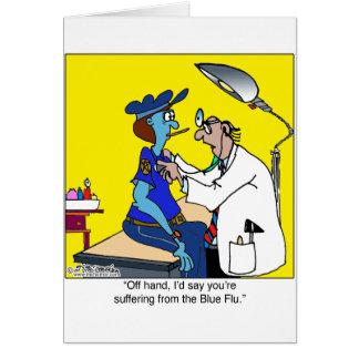 Tarjeta La gripe azul