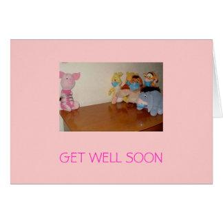 Tarjeta la gripe de los cerdos, CONSIGUE BIEN PRONTO