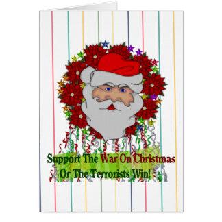 Tarjeta La guerra de Santa en Navidad