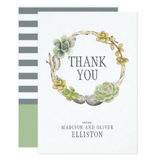 Tarjeta La guirnalda de Succulents, las ramitas y las