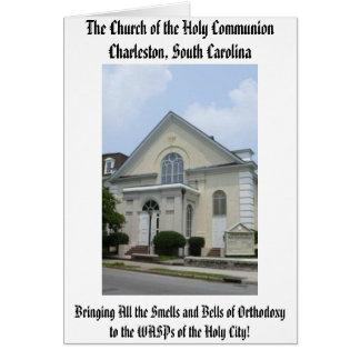 Tarjeta La iglesia de la comunión santa