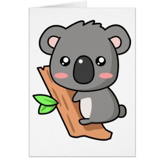 Tarjetas e invitaciones Dibujo Animado Lindo La Koala  Zazzlees