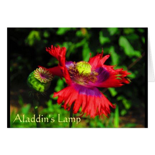 Tarjeta La lámpara de Alladin