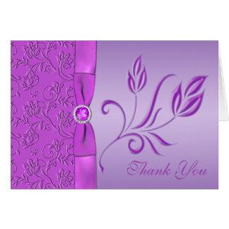 Tarjeta La lavanda y la púrpura Jewelled le agradecen