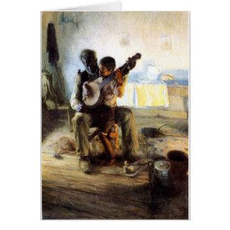 Tarjeta La lección del banjo