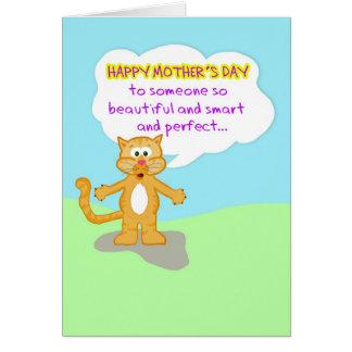 Tarjeta La madre feliz Día-Dura creerle no es un Ca