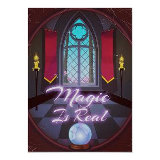Tarjeta La magia es dibujo animado inspirado real de la