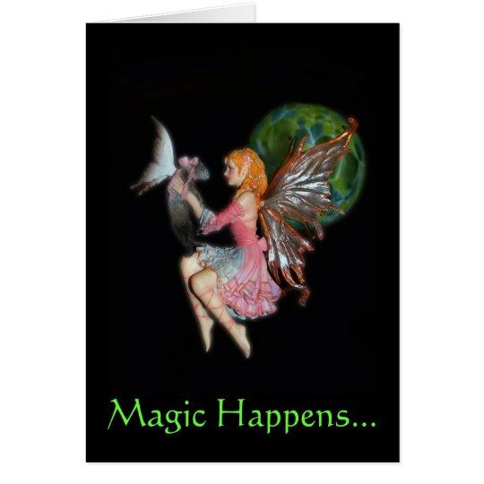 Tarjeta La magia sucede…