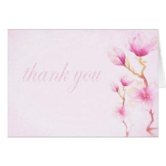 Tarjeta La magnolia florece gracias