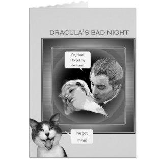 Tarjeta La mala noche de Drácula