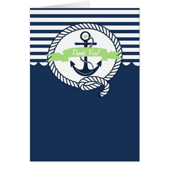 Tarjeta La marina de guerra y la verde menta náuticas le