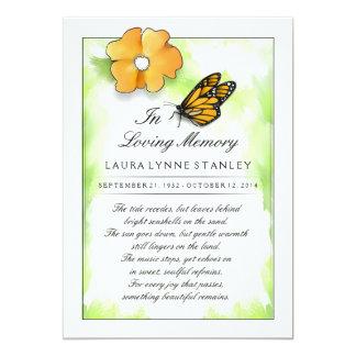 Tarjeta La mariposa de monarca en memoria del le agradece