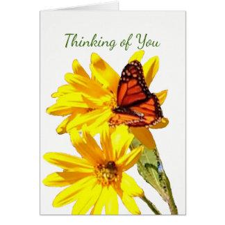Tarjeta La mariposa, escribe su propia nota, letra o