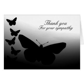 Tarjeta La mariposa le agradece