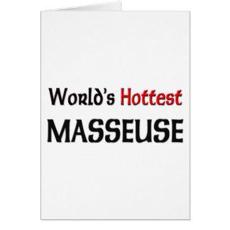 Tarjeta La masajista más caliente de los mundos