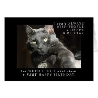 Tarjeta La mayoría del deseo interesante del cumpleaños