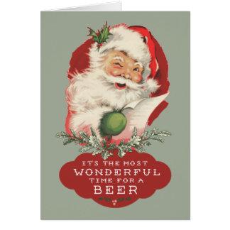 Tarjeta La mayoría del tiempo maravilloso para el navidad