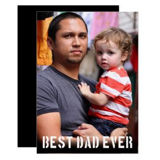 Tarjeta La mejor foto siempre minimalista del día de padre
