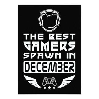 Tarjeta La mejor freza de los videojugadores en diciembre