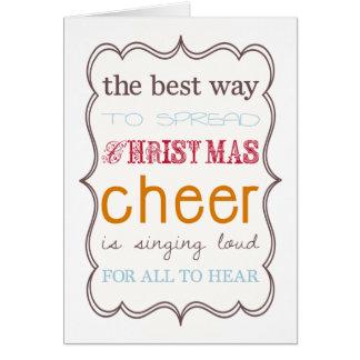 Tarjeta La mejor manera de separar alegría del navidad