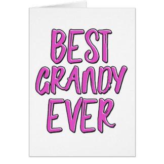 Tarjeta La mejor nunca abuela grandy