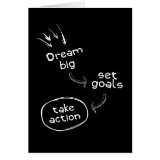 Tarjeta La meta grande ideal del sistema toma a acción