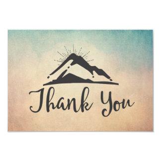 Tarjeta La montaña con Sunrays le agradece