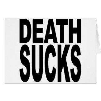 Tarjeta La muerte chupa