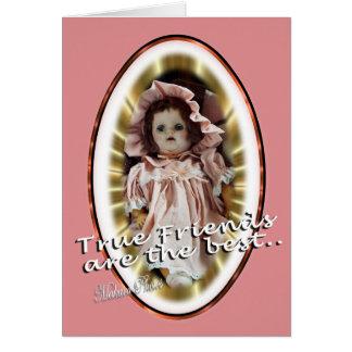 Tarjeta La muñeca antigua Patty personaliza como usted