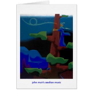 Tarjeta la música eólica de los muir de Juan - notecard