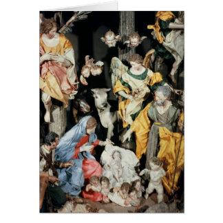 Tarjeta La natividad, hecha en Nápoles