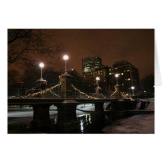 Tarjeta La noche del Año Nuevo en el jardín público