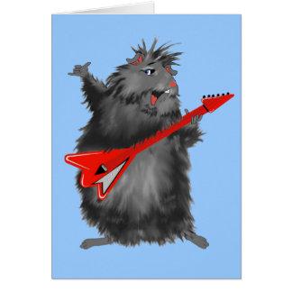 Tarjeta La nueva guitarra de Betty negra